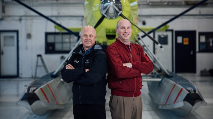 Harbour Air CEO & Founder Greg Mcdougall, and magniX CEO Roei Garzanski