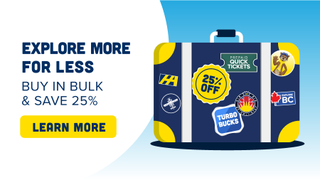 Save 25% on Turbobucks or Pre-Paid Quick Tickets