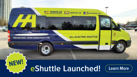 Harbour Air Expands Electrification Efforts with new eShuttle