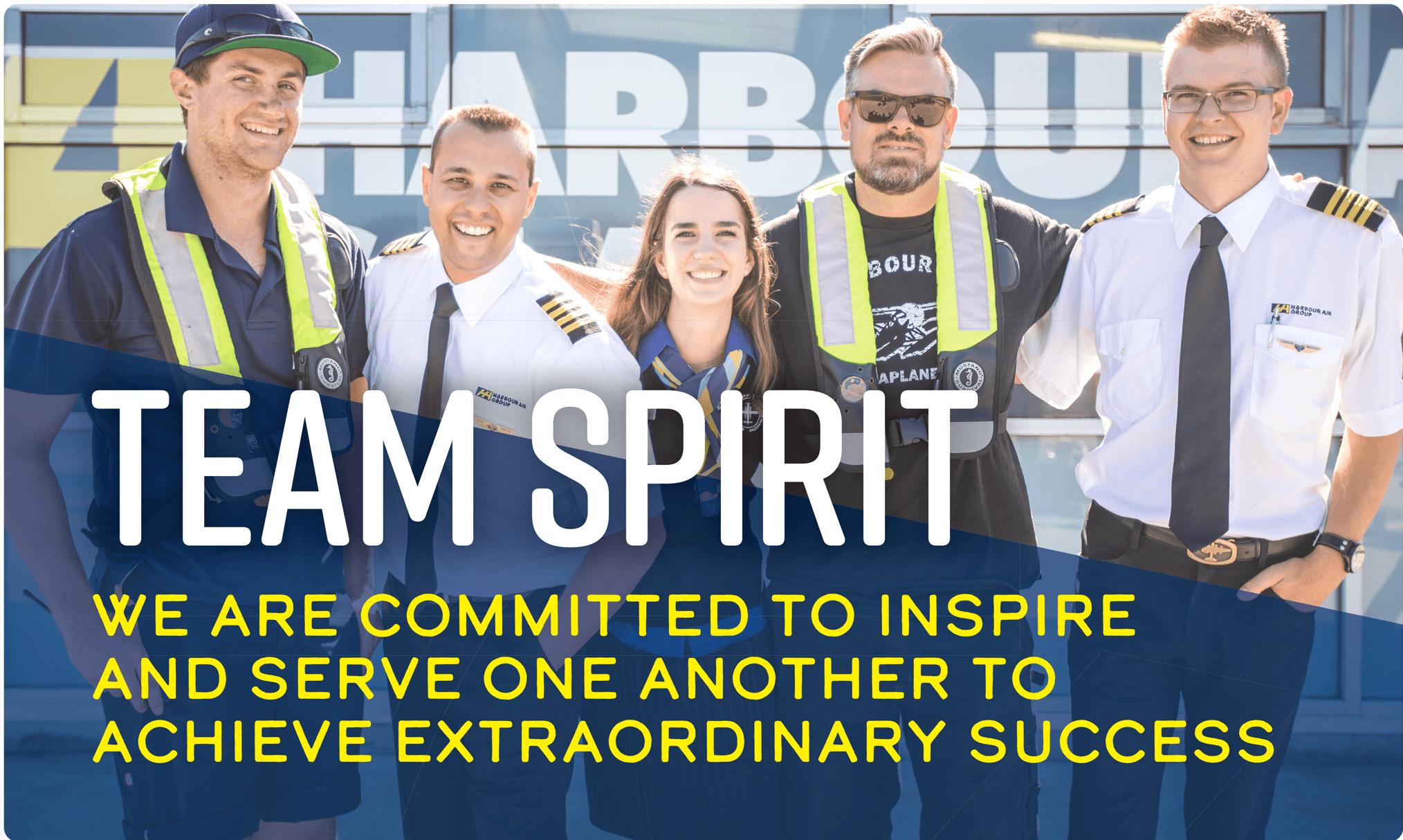 Team Spirit: We are committed to inspire and serve one another to achieve extraordinary success
